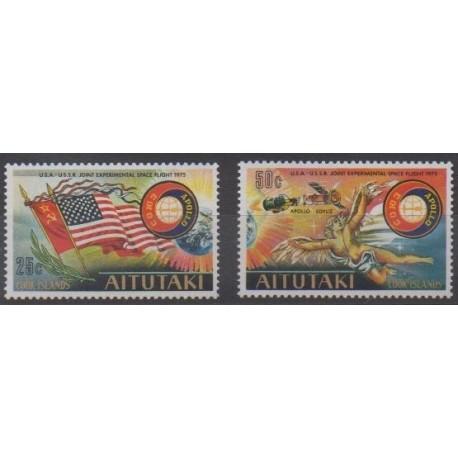 Aitutaki - 1975 - Nb 134/135 - Space