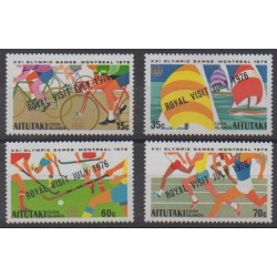 Aitutaki - 1976 - Nb 172/175 - Summer Olympics - Royalty