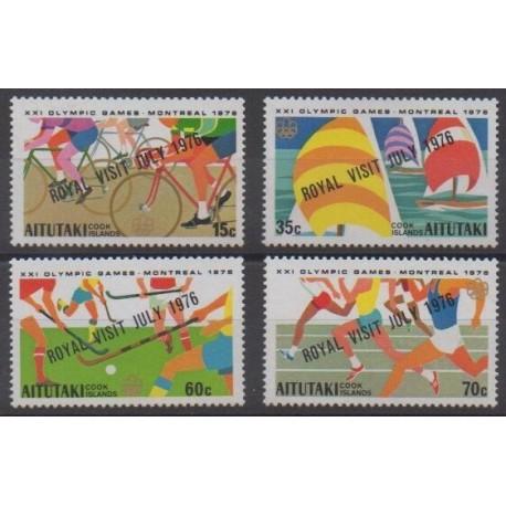 Aitutaki - 1976 - No 172/175 - Jeux Olympiques d'été - Royauté - Principauté