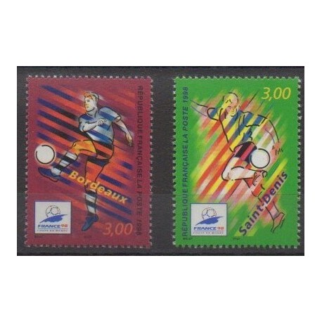 France - Poste - 1998 - No 3130/3131 - Coupe du monde de football