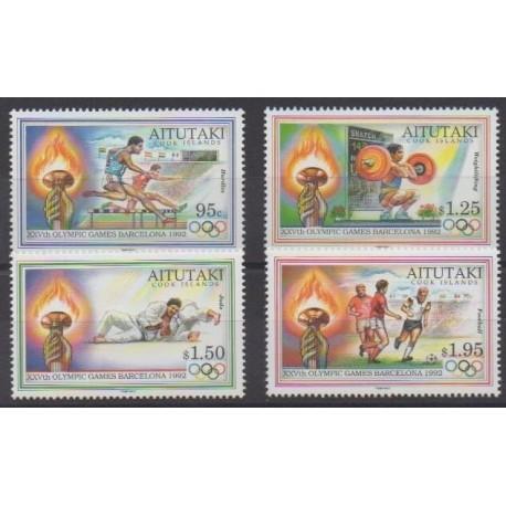 Aitutaki - 1992 - Nb 506/509 - Summer Olympics