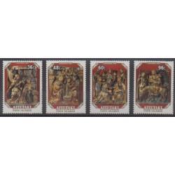 Aitutaki - 1984 - No 412/415 - Art - Noël