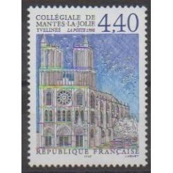 France - Poste - 1998 - Nb 3180 - Churches