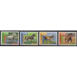France - Poste - 1998 - Nb 3182/3185 - Horses