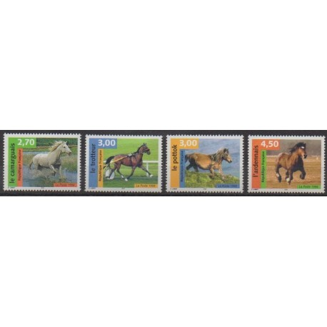 France - Poste - 1998 - No 3182/3185 - Chevaux