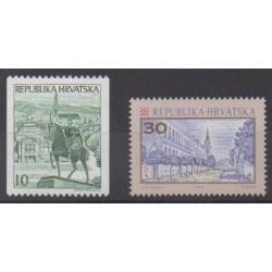 Croatia - 1992 - Nb 157/158 - Sights