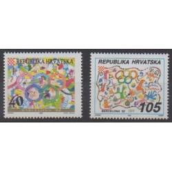 Croatia - 1992 - Nb 163/164 - Summer Olympics