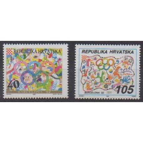 Croatie - 1992 - No 163/164 - Jeux Olympiques d'été