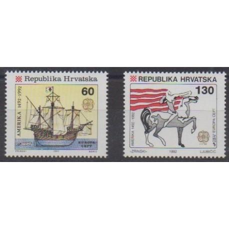 Croatie - 1992 - No 171/172 - Christophe Colomb - Europa