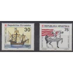 Croatia - 1992 - Nb 169/170 - Christophe Colomb - Europa