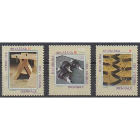 Croatia - 1993 - Nb 200/202 - Paintings
