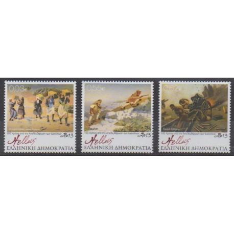 Greece - 2013 - Nb 2651/2653 - Various Historics Themes - Paintings
