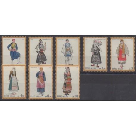 Greece - 1972 - Nb 1073/1080 - Costumes - Uniforms - Fashion