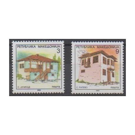 Macedonia - 2002 - Nb 262A/262B - Architecture