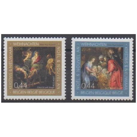 Belgium - 2004 - Nb 3319/3320 - Christmas
