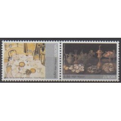 Belgique - 2005 - No 3371/3372 - Gastronomie - Europa