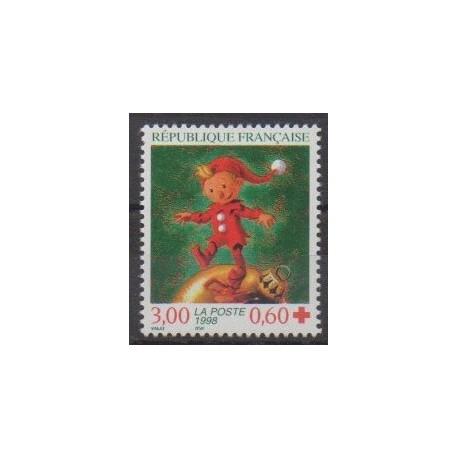 France - Poste - 1998 - No 3199 - Santé ou Croix-Rouge