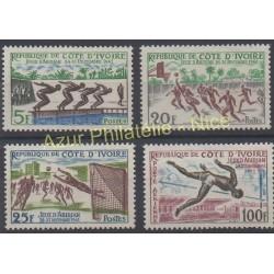 Côte d'Ivoire - 1961 - No 201/203 - PA 21 - Sport