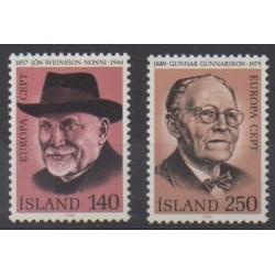 Islande - 1980 - No 505/506 - Célébrités - Europa