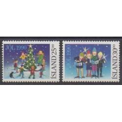 Iceland - 1990 - Nb 689/690 - Christmas