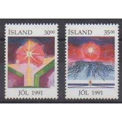 Islande - 1991 - No 711/712 - Noël
