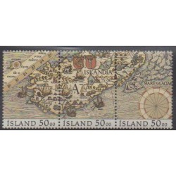 Iceland - 1990 - Nb 686/688 - Various Historics Themes
