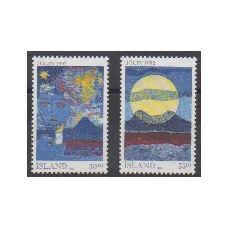 Islande - 1992 - No 727/728 - Noël - Peinture