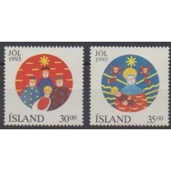 Iceland - 1993 - Nb 748/749 - Christmas