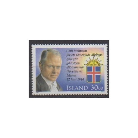 Iceland - 1994 - Nb 764 - Celebrities