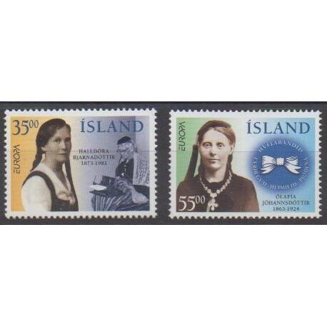 Iceland - 1996 - Nb 797/798 - Celebrities - Europa