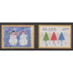 Iceland - 1995 - Nb 787/788 - Christmas