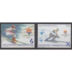 Macédoine - 2002 - No 238/239 - Jeux olympiques d'hiver
