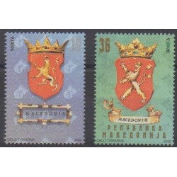 Macedonia - 2002 - Nb 252/253 - Coats of arms