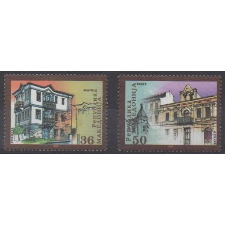 Macédoine - 2002 - No 254/255 - Architecture
