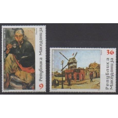 Macédoine - 2003 - No 281/282 - Peinture