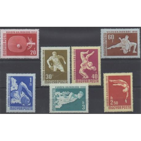 Hongrie - 1958 - No 1257/1263 - Sport