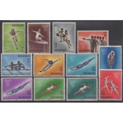San Marino - 1964 - Nb 615/626 - Summer Olympics