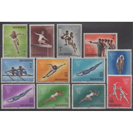 Saint-Marin - 1964 - No 615/626 - Jeux Olympiques d'été