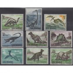 Saint-Marin - 1965 - No 645/653 - Animaux préhistoriques