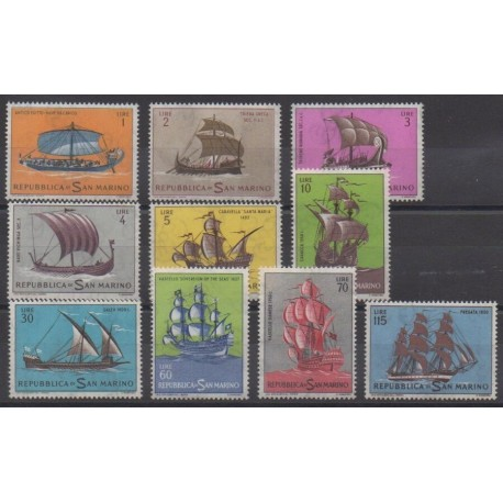 San Marino - 1962 - Nb 573/582 - Boats