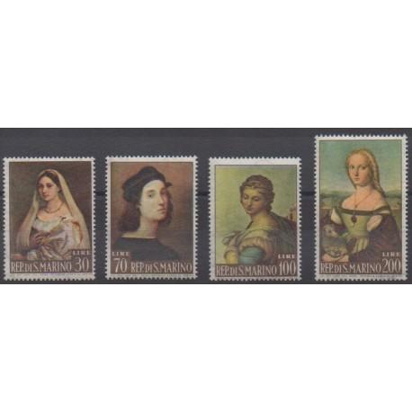 San Marino - 1963 - Nb 583/586 - Paintings