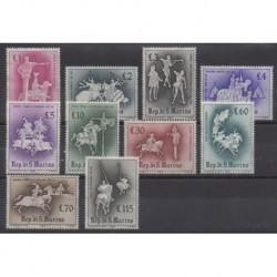 San Marino - 1963 - Nb 587/596