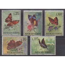 Saint-Marin - 1963 - No 599/603 - Insectes