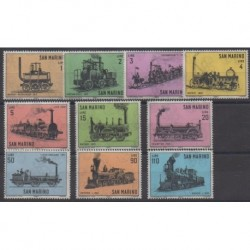 Saint-Marin - 1964 - No 627/636 - Chemins de fer