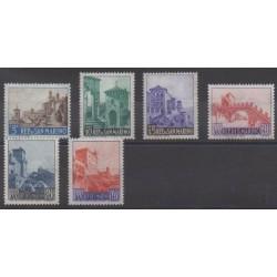 Saint-Marin - 1966 - No 666/671 - Monuments