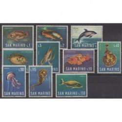 Saint-Marin - 1966 - No 676/685 - Vie marine