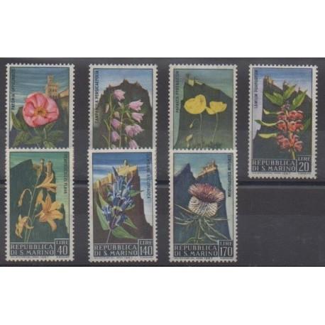 Saint-Marin - 1967 - No 687/693 - Fleurs