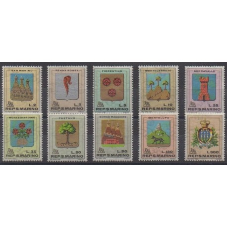 San Marino - 1968 - Nb 710/719 - Coats of arms
