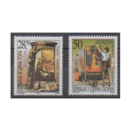 Yougoslavie (Serbie et Monténégro) - 2003 - No 2956/2957 - Art - Europa