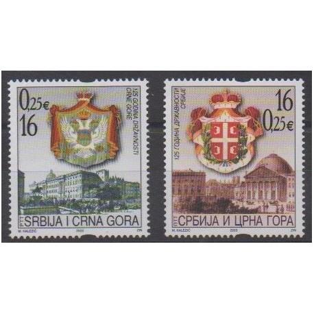 Yugoslavia - 2003 - Nb 2982/2983 - Coats of arms